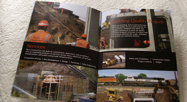 Marketing Brochure Park Construction Co.