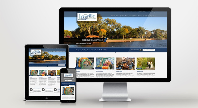 Website Development Lakeville Convention and Visitors Bureau