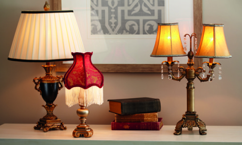Downton Abbey Lamp photo by Ensemble Creative & Marketing